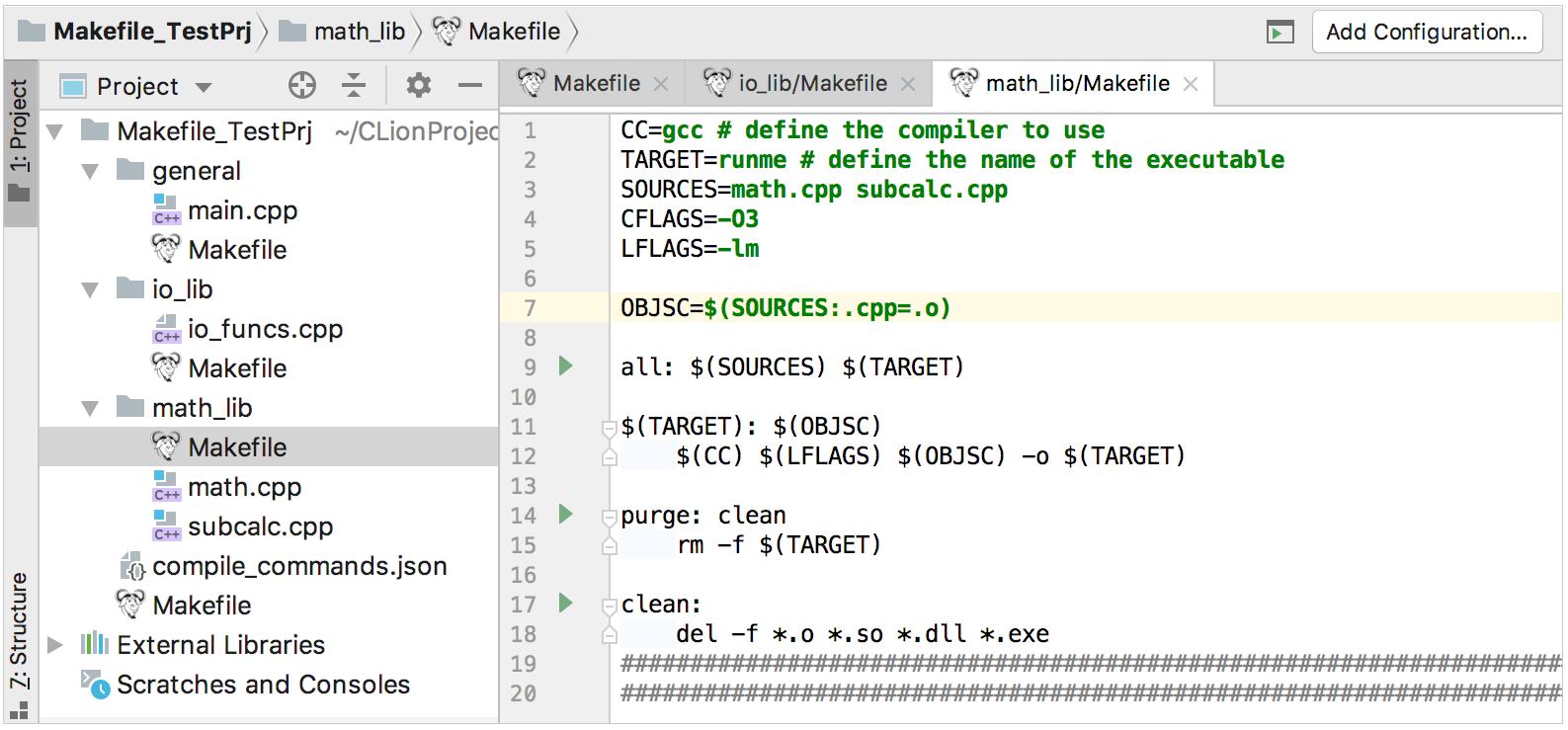 makefile support plugin