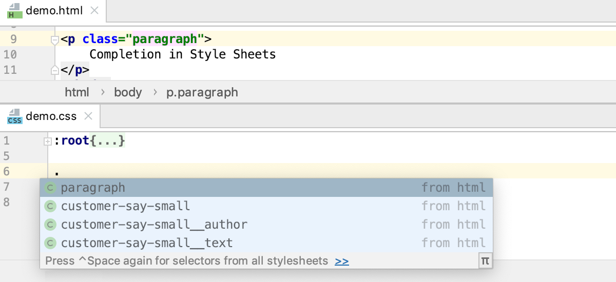 Style Sheets: completing classes