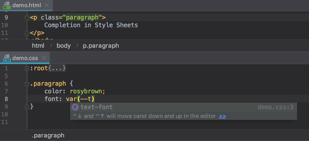 move text up and down css