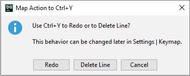 Delete a line or redo