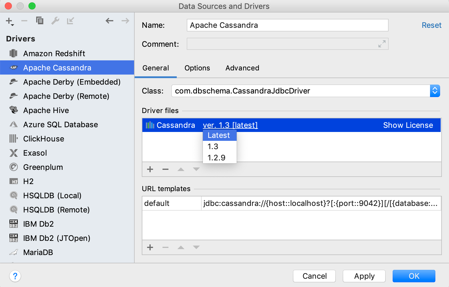 Verify the version of the JDBC driver