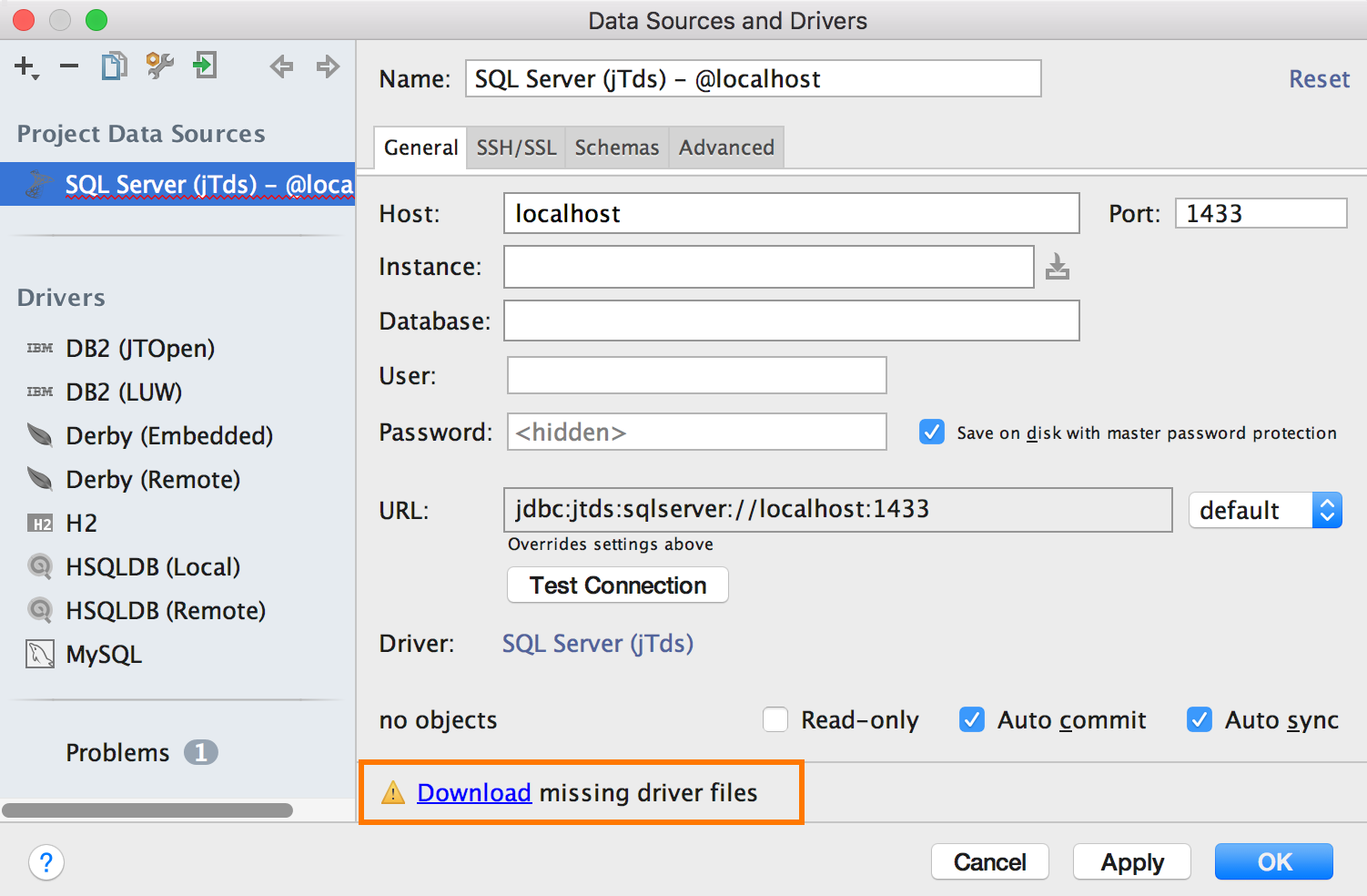 Click the Download missing drivers link