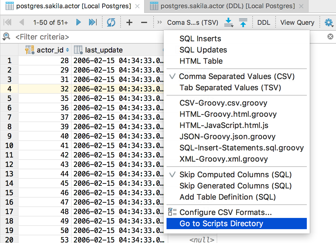 Go to scripts directory