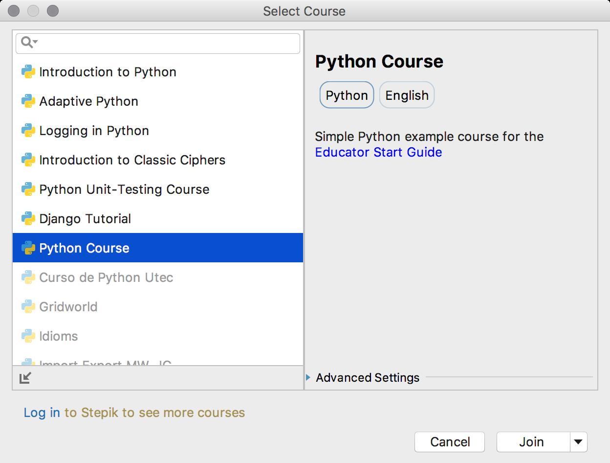 edu course imported python