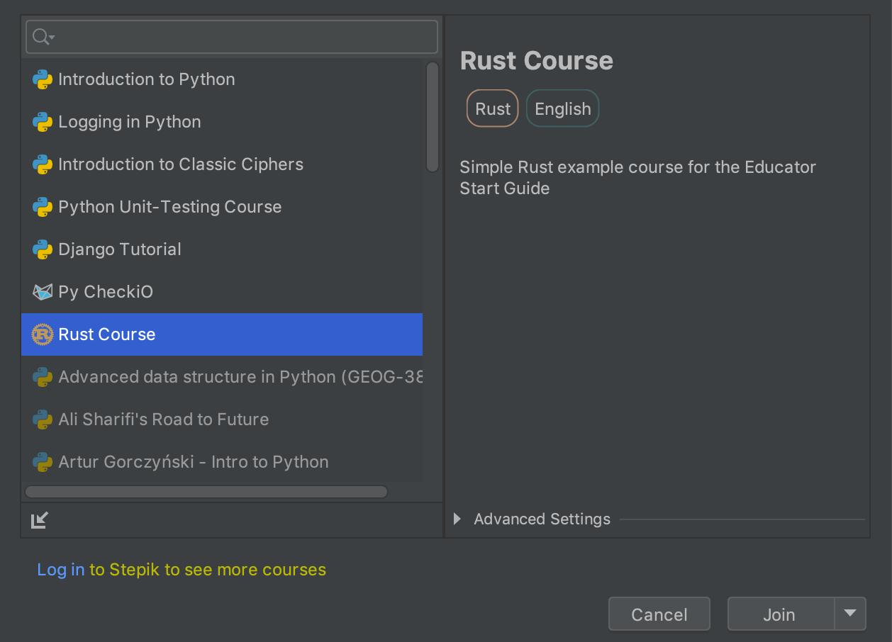 edu course imported rust