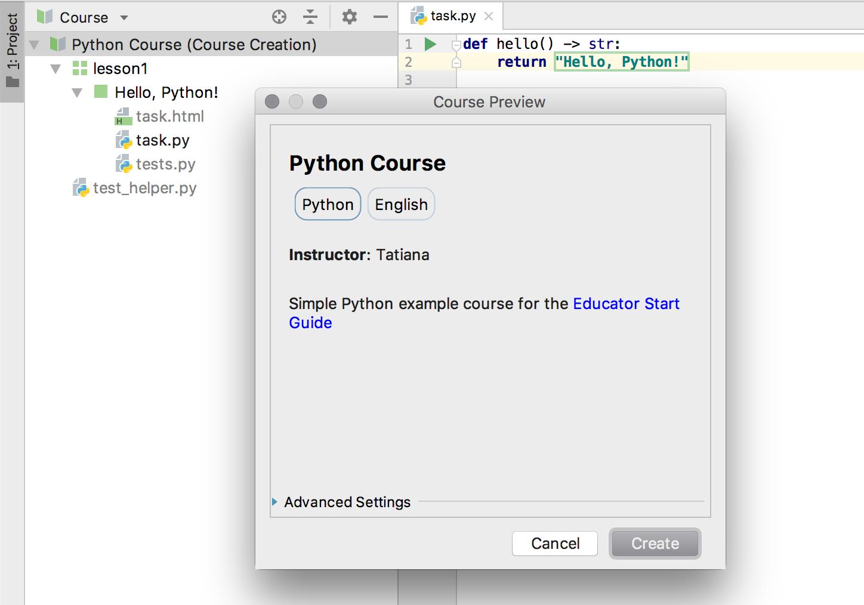 edu course preview python