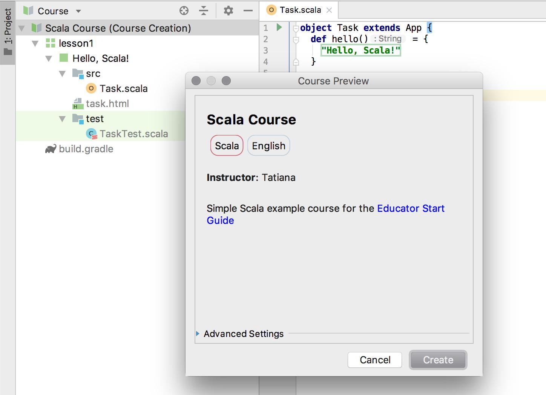 edu course preview scala