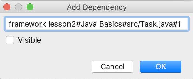 edu framework lesson add dependency java