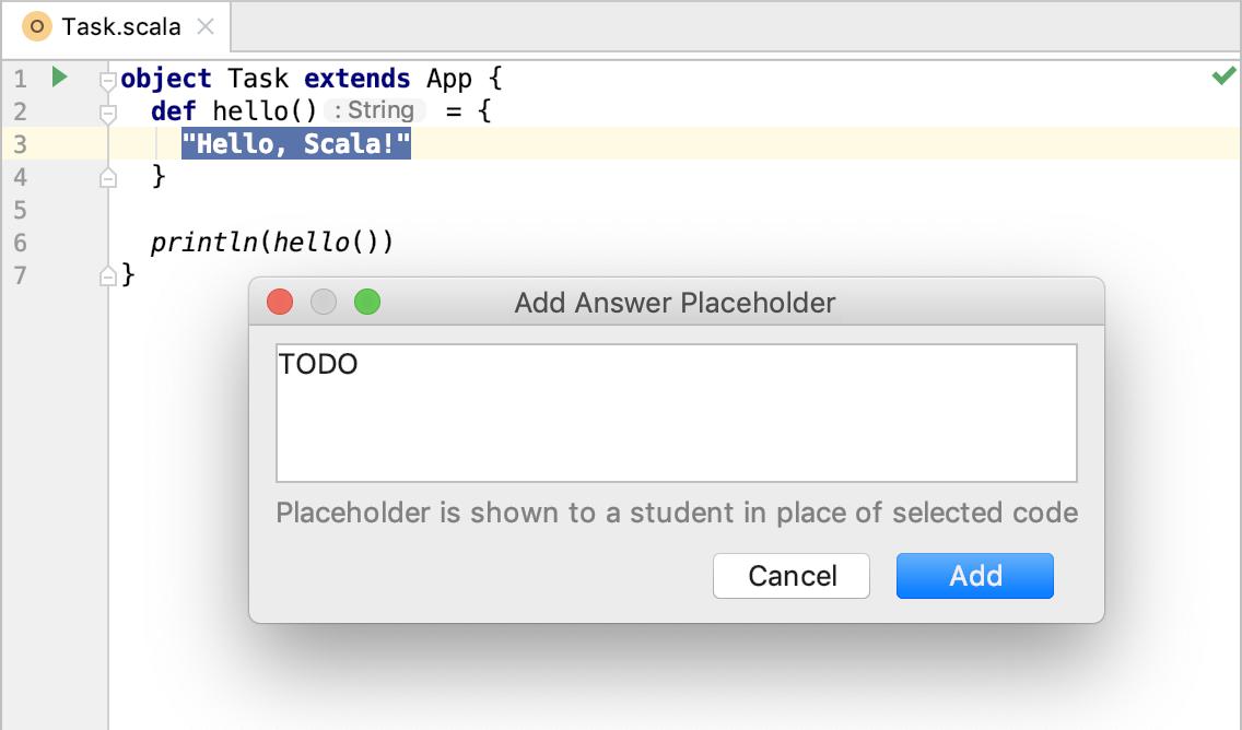 edu framework lesson add placeholder scala
