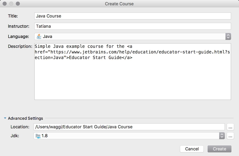 edu new course java