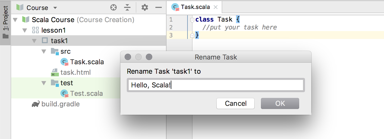 edu rename task scala