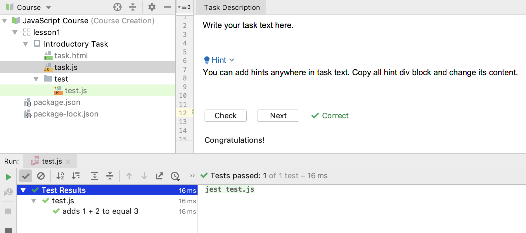 edu run test js