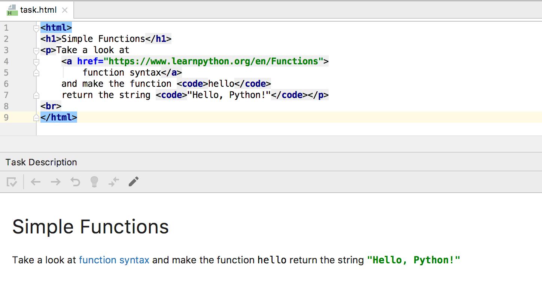 edu task description python