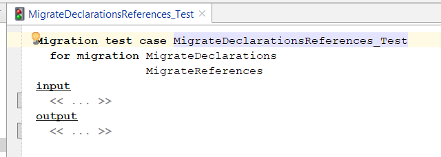 empty migration test