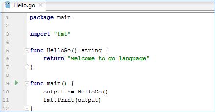 go sample code