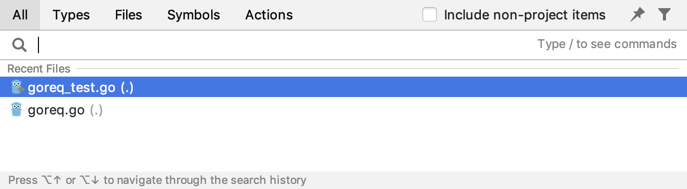 search everywhere popup