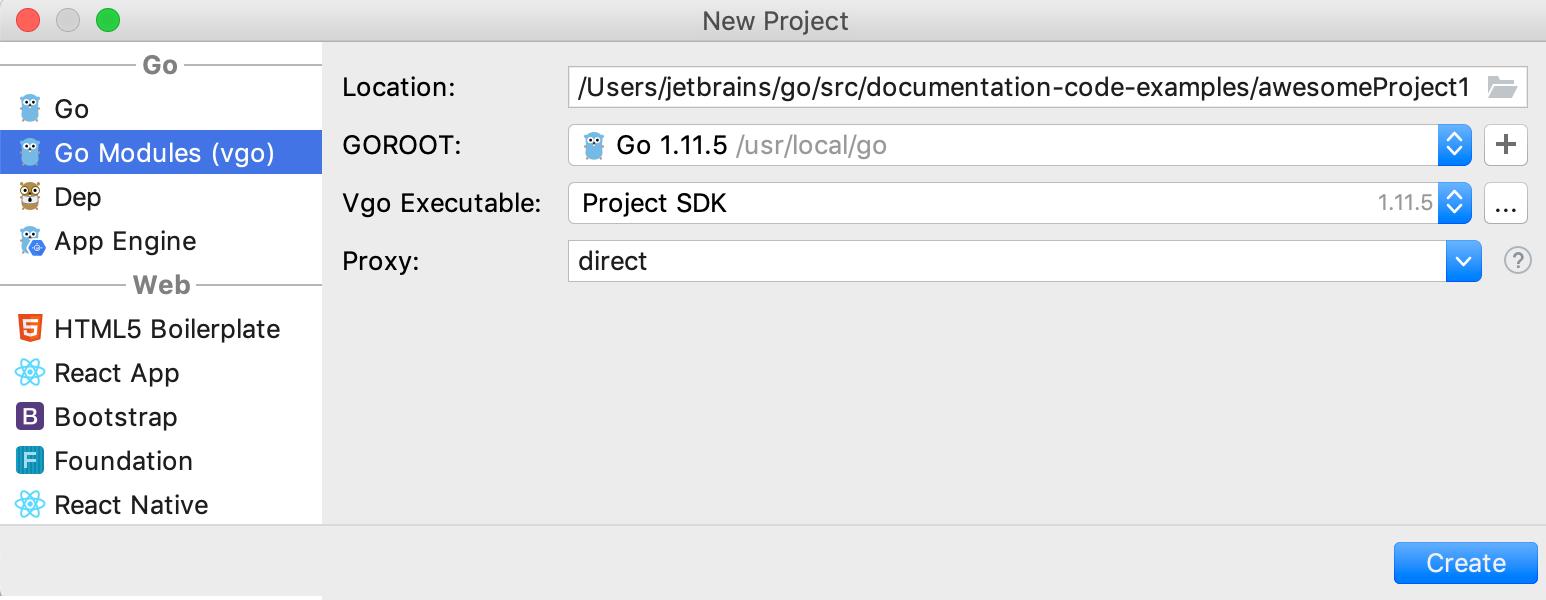 Integration with Go modules (vgo)