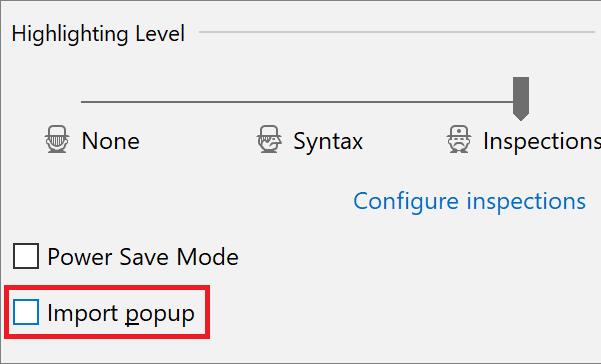 import popup