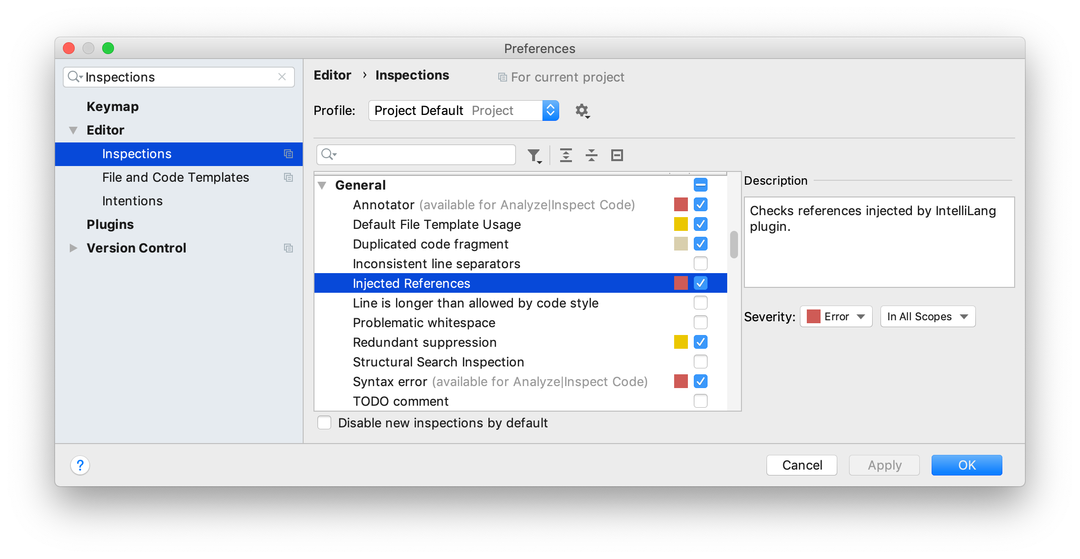 Code inspections - Help | IntelliJ IDEA