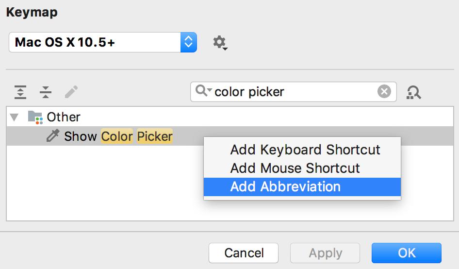Color Picker Add Abbreviation