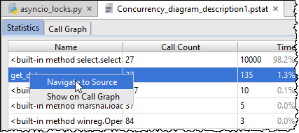 profiler jump to source