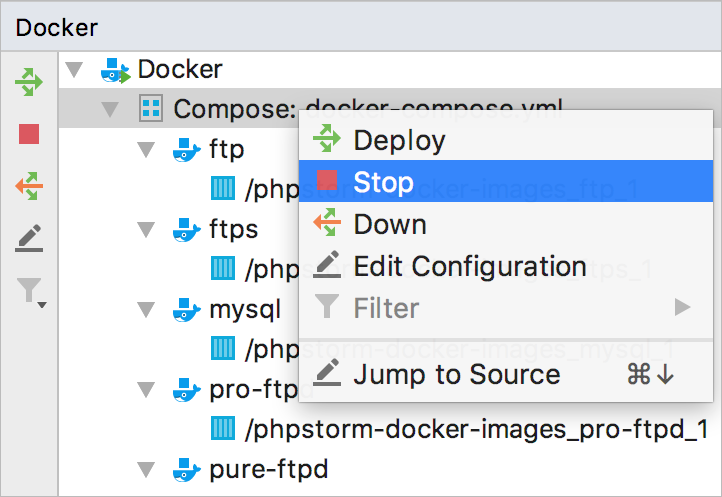 Docker Compose stop all services