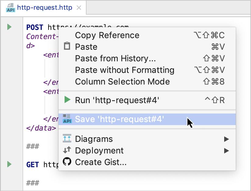 Save a temporary run configuration