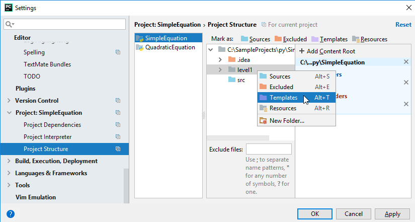 Mark as COntent root