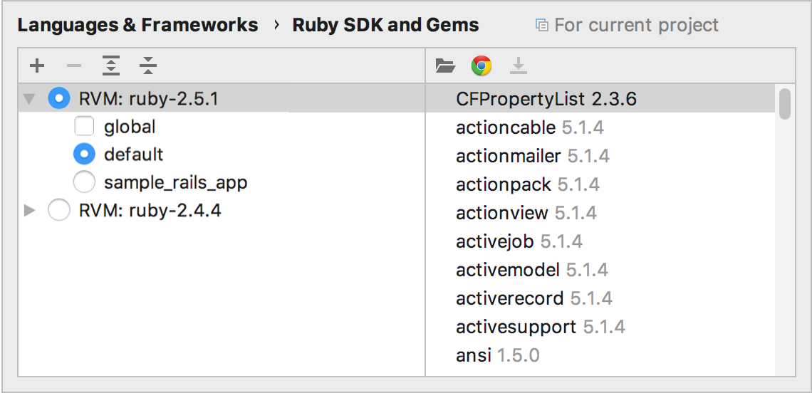 Ruby SDK and Gems page for RVM