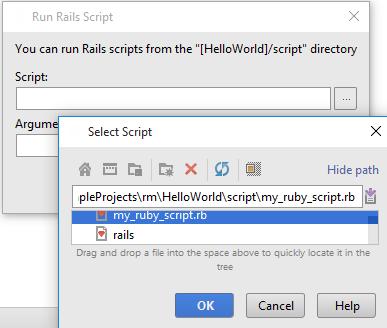 Running Rails Scripts - Help | IntelliJ IDEA