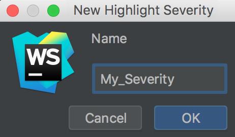 New highlight severity