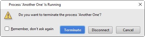 Terminating a running process