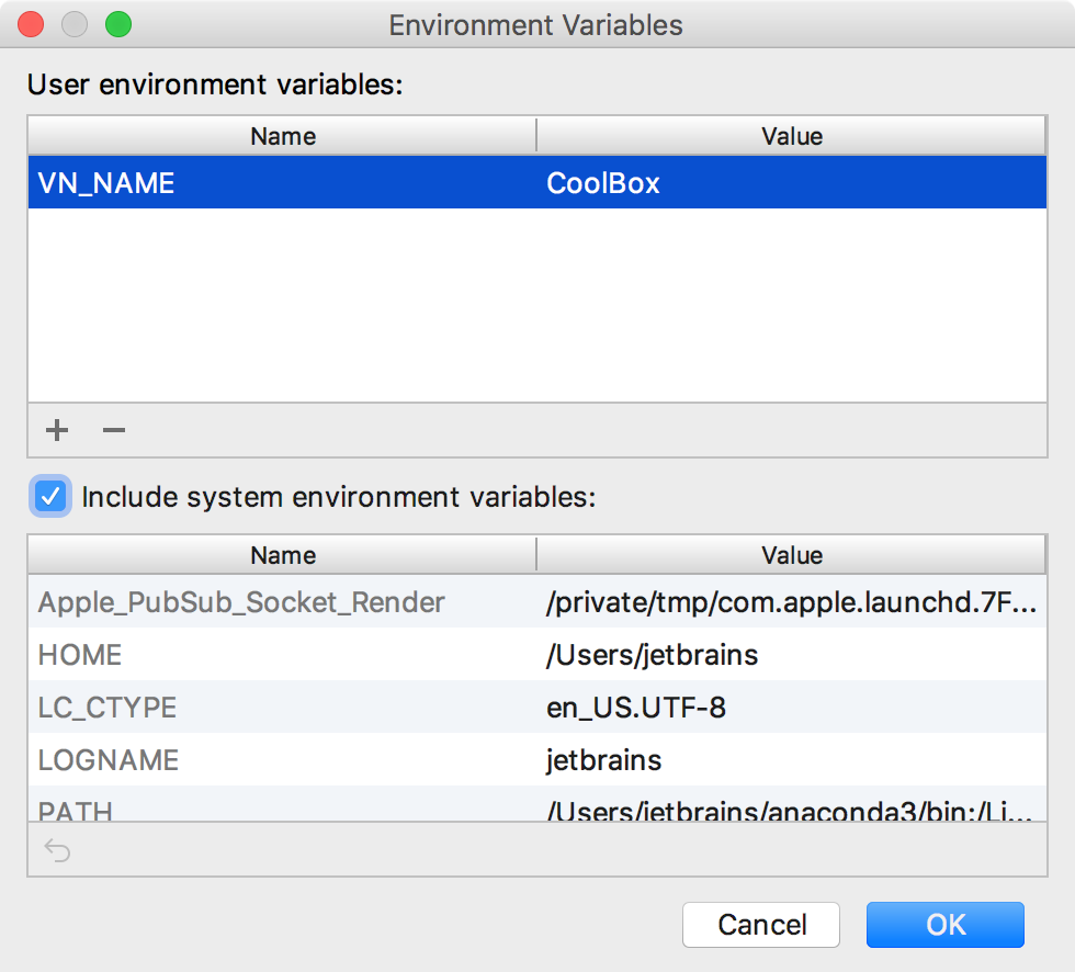 Adding an environment variable