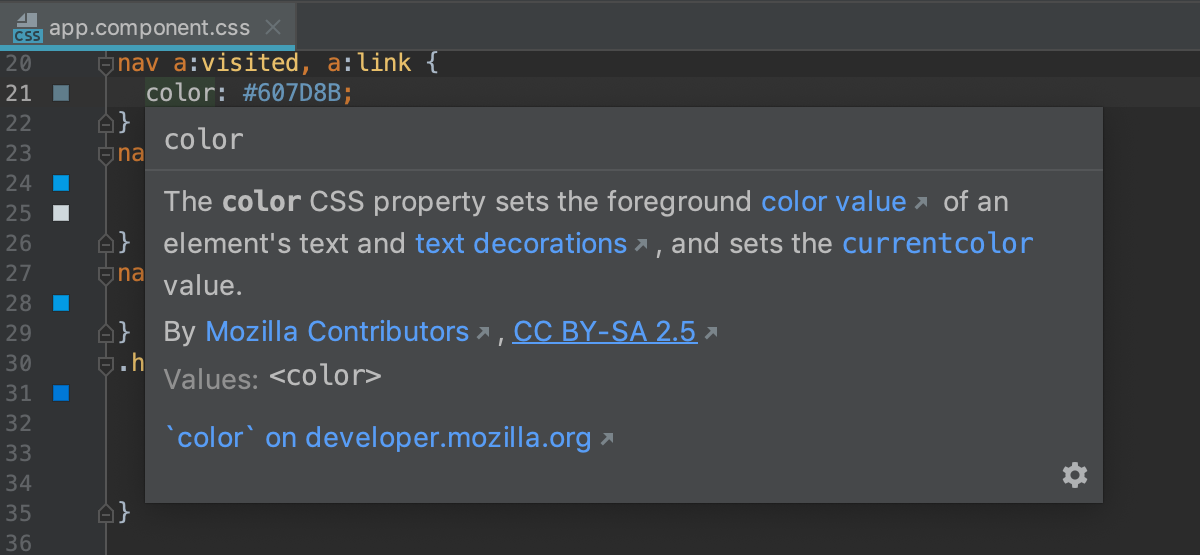 CSS quick documentation: property is available in all versions of browsers
