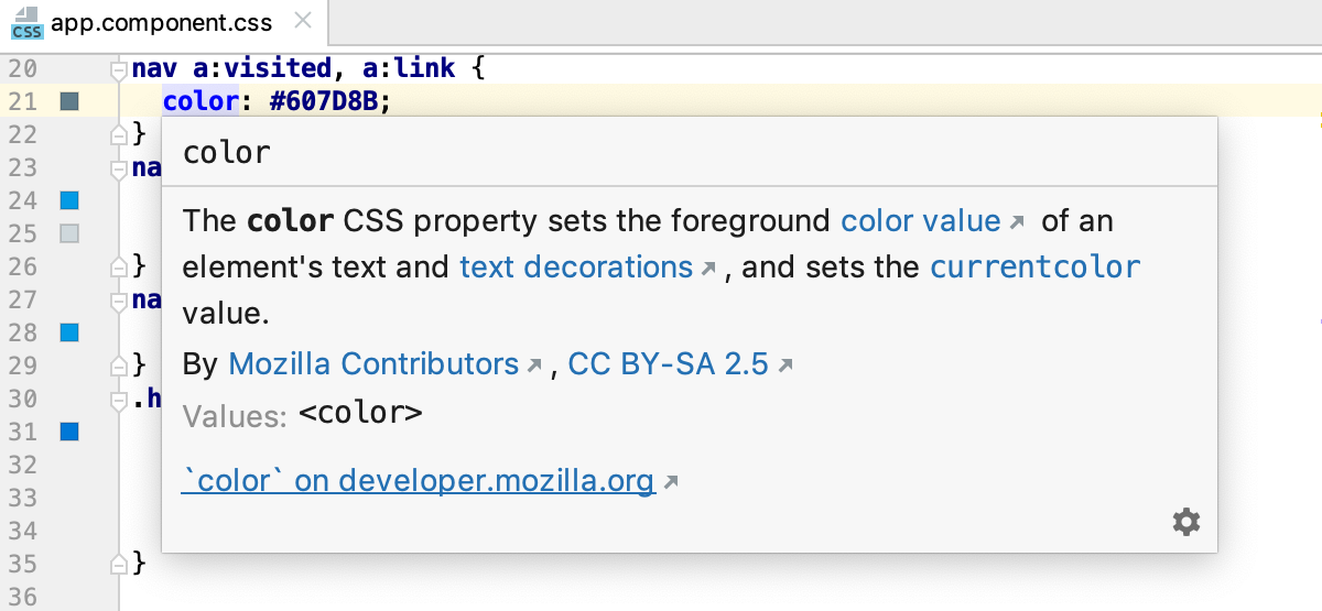 Style sheets quick documentation: property is available in all versions of browsers
