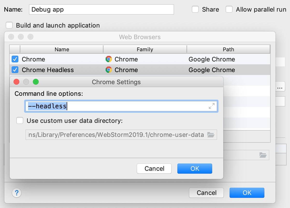 Configuring Headless Chrome
