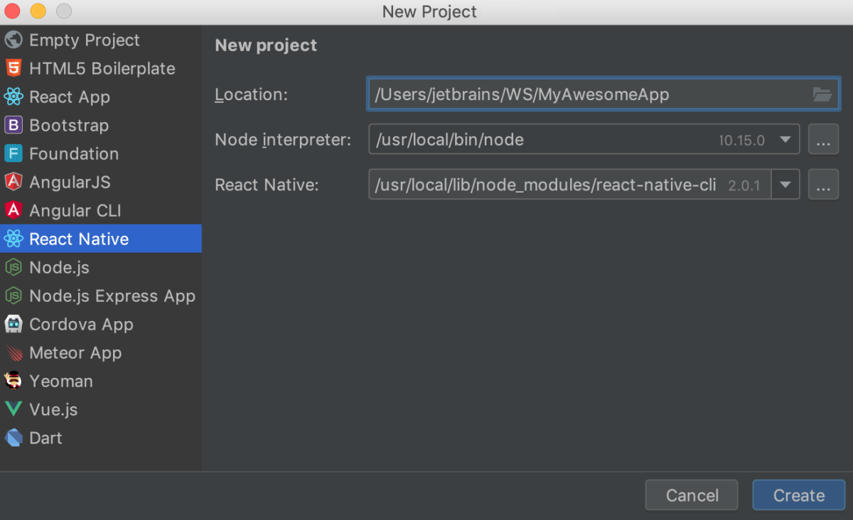 react native android emulator download