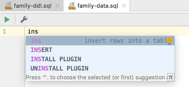 How to work with the DDL data source - Help   DataGrip