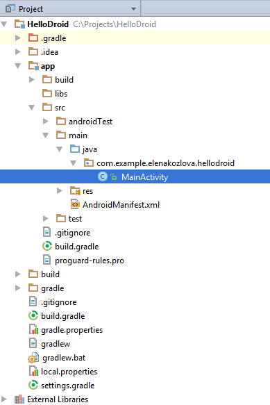 Exploring the Project Structure - Help | IntelliJ IDEA