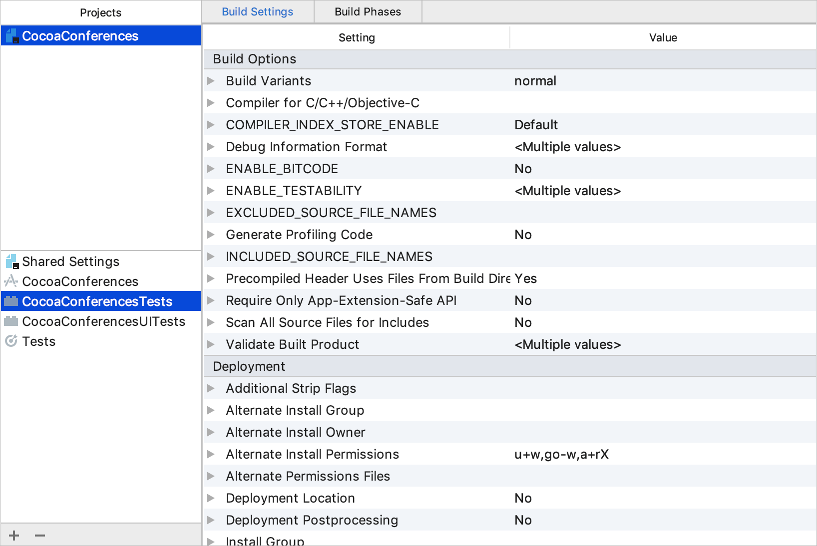 Xcode-compatible project settings - Help | AppCode
