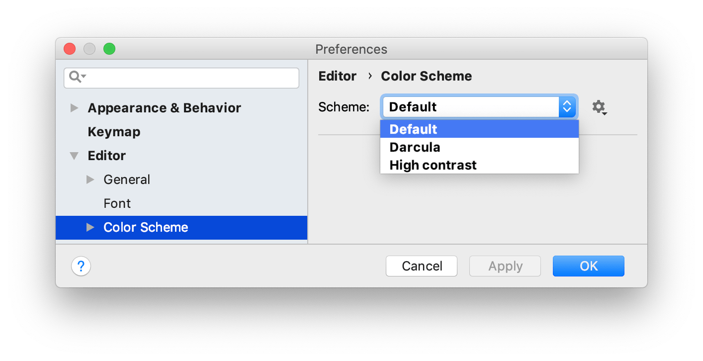 Configuring colors and fonts - Help | GoLand