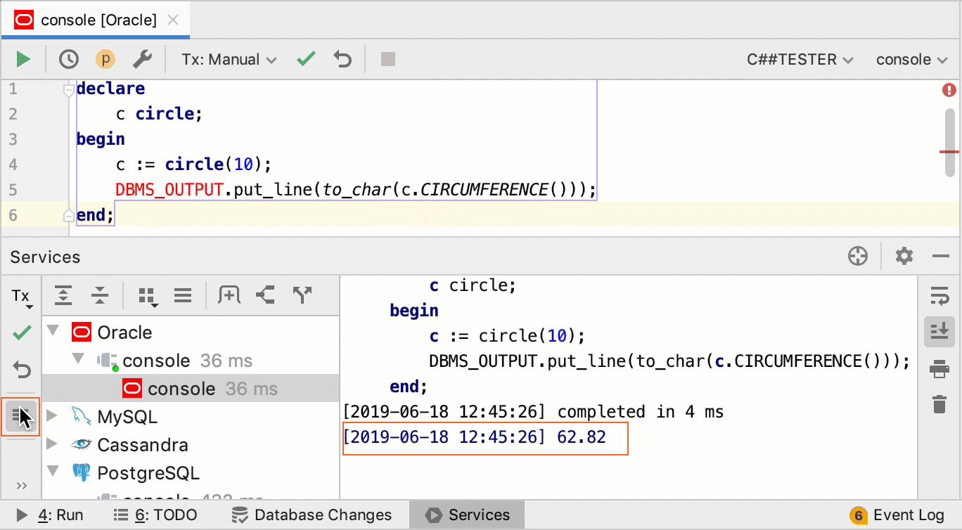 SQL statements - Help | DataGrip