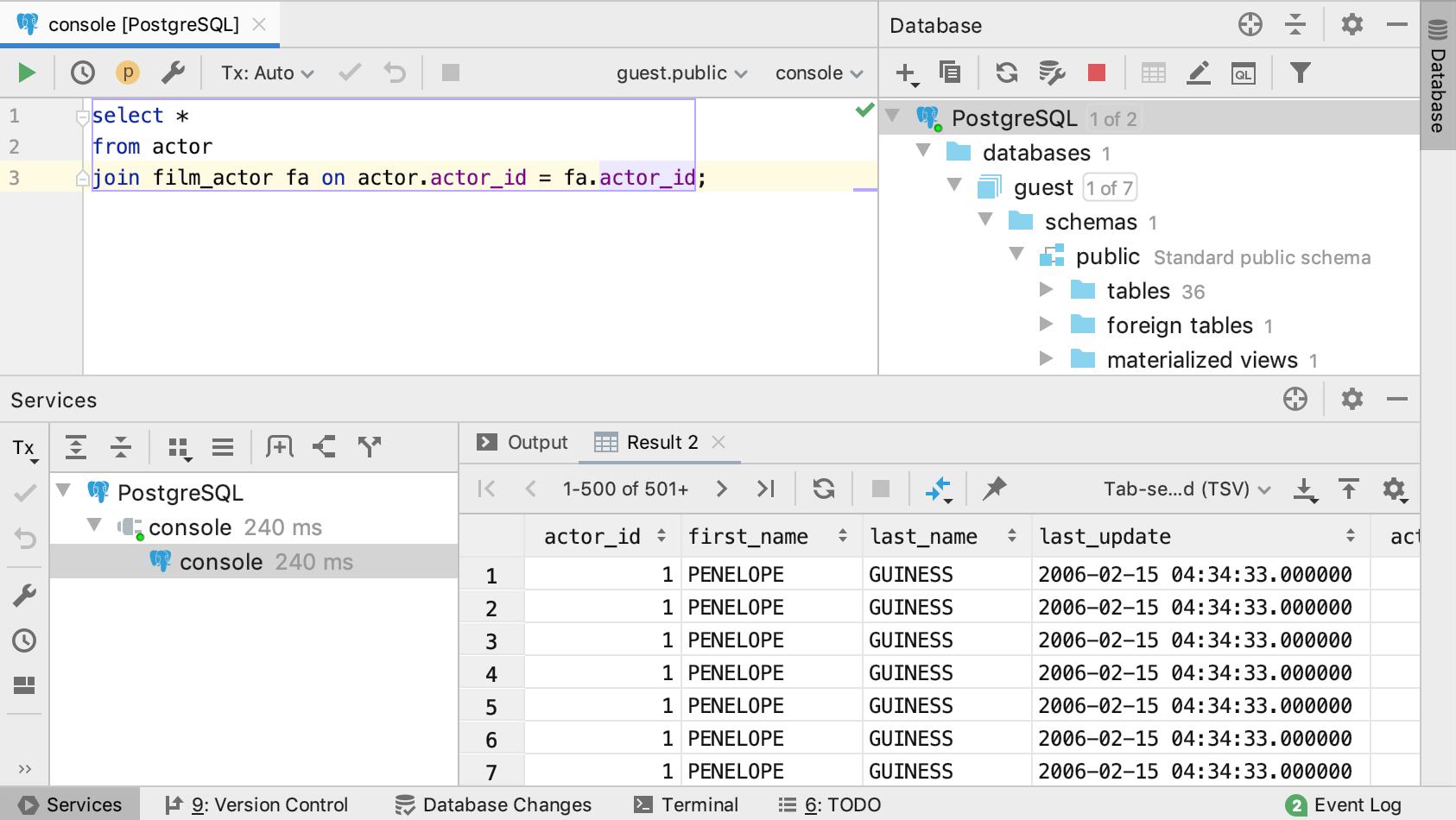 Data editor - Help | PyCharm