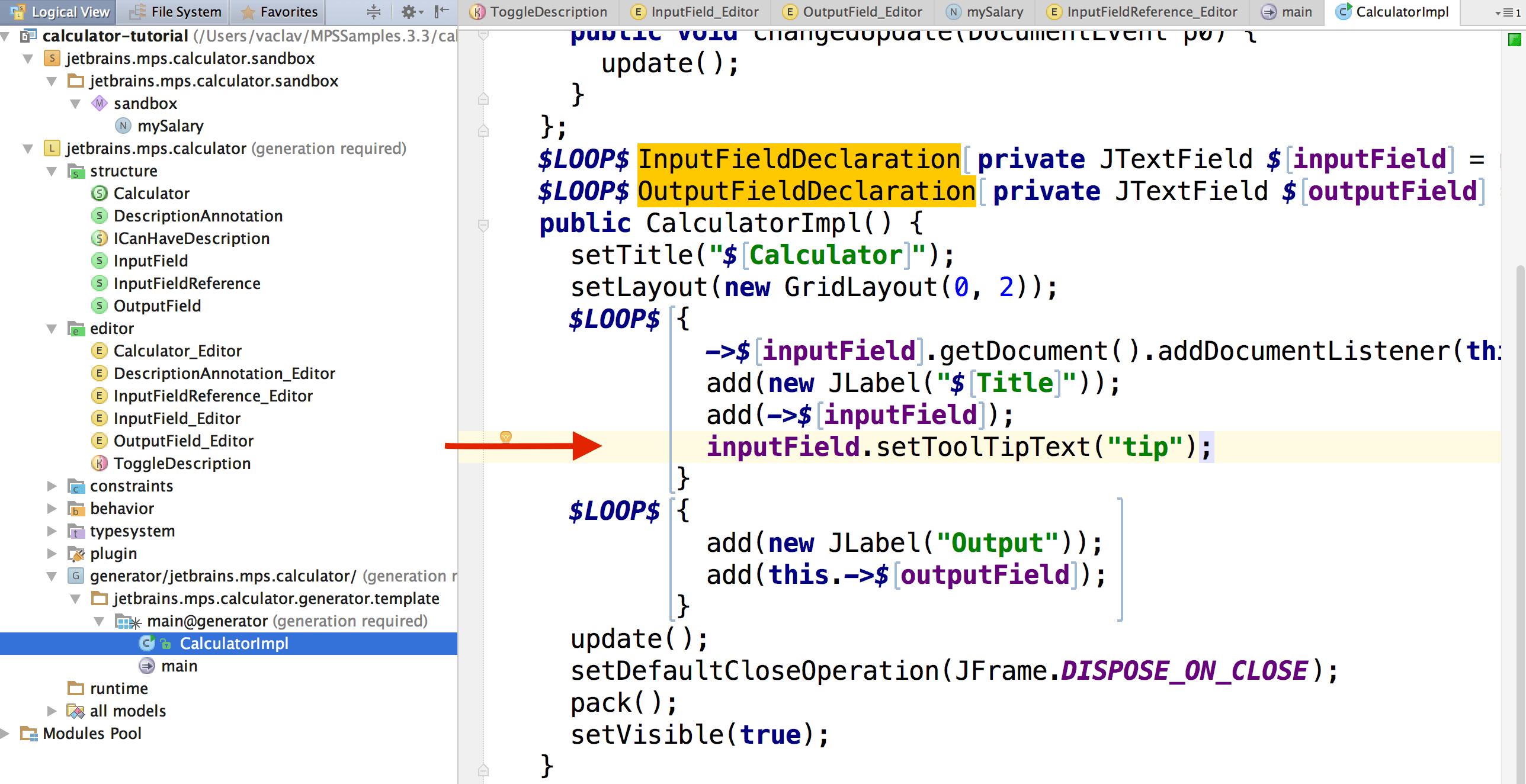 Creating JTextFields