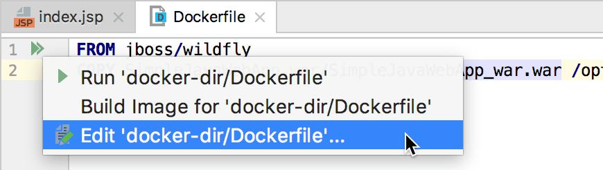 Deploy a Java web application inside a Wildfly server