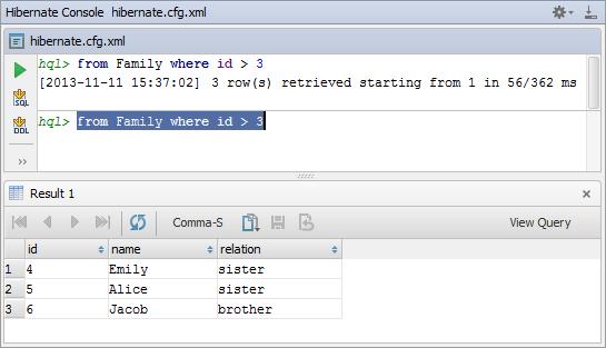 Hibernate Console Tool Window - Help | IntelliJ IDEA