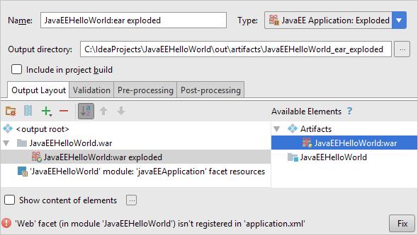 Developing a Java EE Application - Help | IntelliJ IDEA