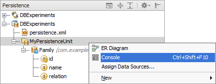 Working with the JPA console - Help | IntelliJ IDEA