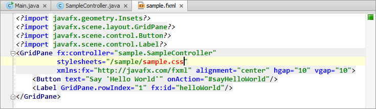 Developing a JavaFX Hello World Application: Coding Examples