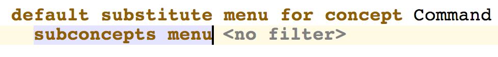 Substitution menu 2